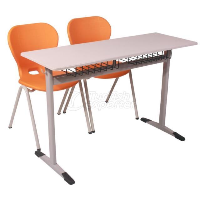 Double School Desk CC010
