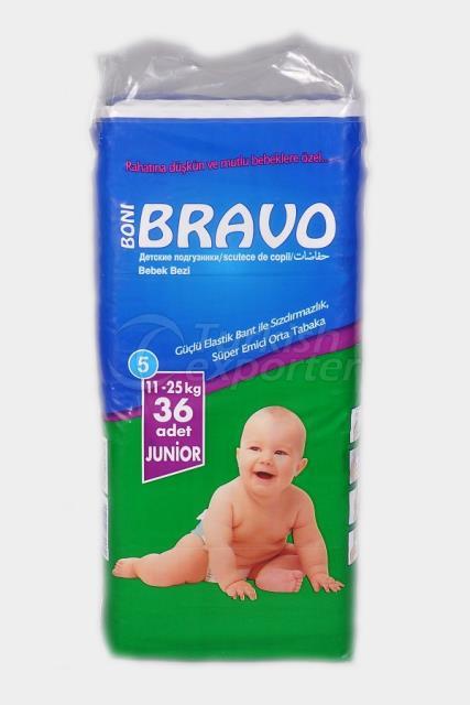Baby Diaper BRAVO 5 TWIN JUNIOR