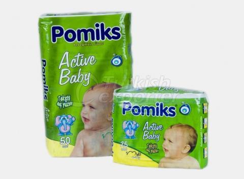 Baby Diaper POMIKS ACTIVE 3 MIDI
