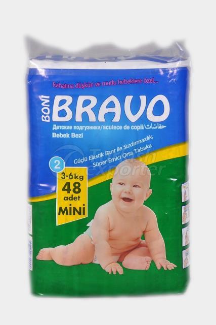 Baby Diaper BRAVO 2 TWIN MINI