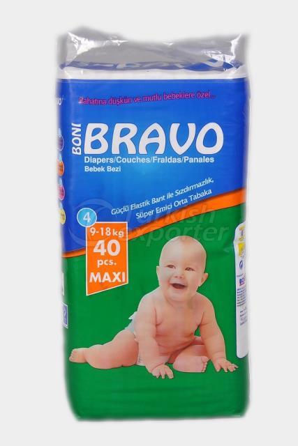 Baby Diaper BRAVO 4 TWIN MAXI