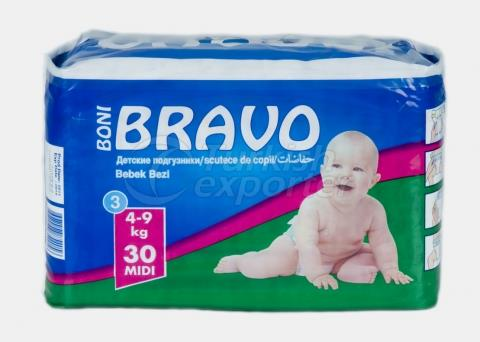 Baby Diaper BRAVO 3 MIDI