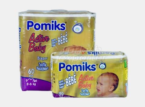 Baby Diaper POMIKS ACTIVE 2 MINI
