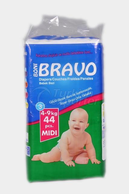Baby Diaper BRAVO 3 TWIN MIDI