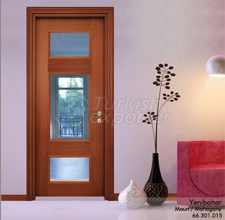 Wooden Door Yenibahar Glazed