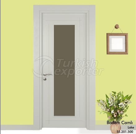 Wooden Door Badem Glazed