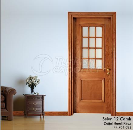 Wooden Door Selen 12-Glass