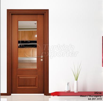 Wooden Door Mine Glazed