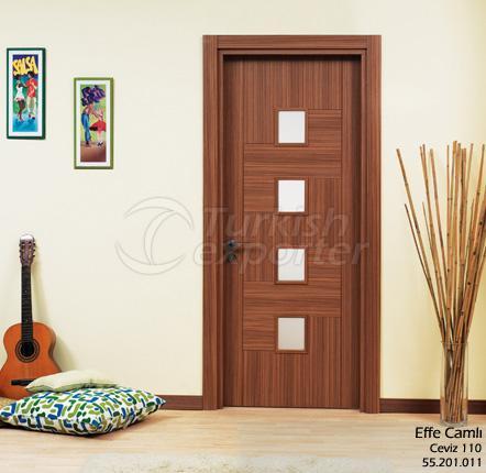 Wooden Door Effe Glassed