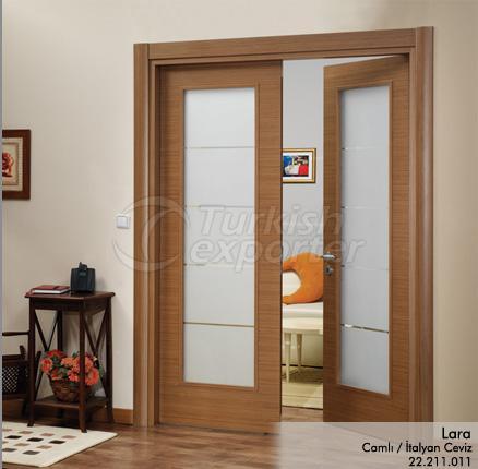 Wooden Door Lara Glazed