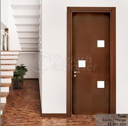 Wooden Door Tuek 3-Glass