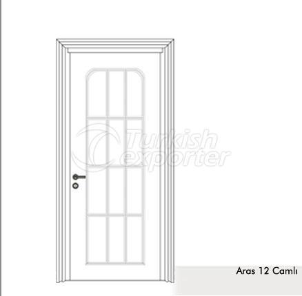 Wooden Door Aras 12-Glass