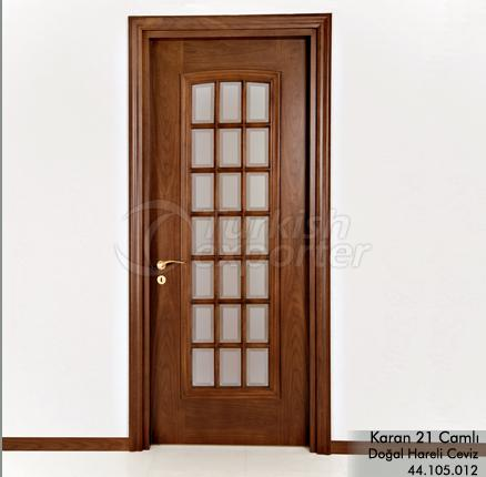 Wooden Door Karan 21-Glass