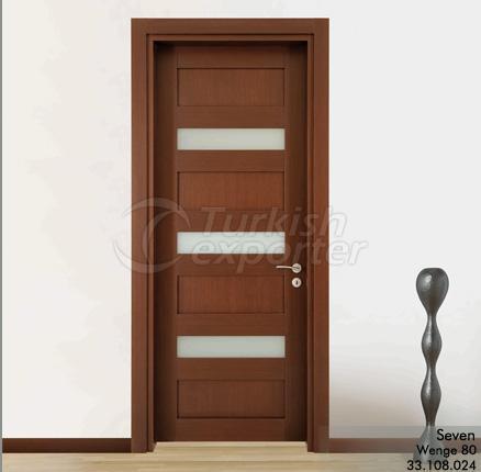 Wooden Door Seven Glazed