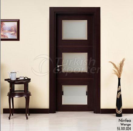 Wooden Door Ninfea Glazed