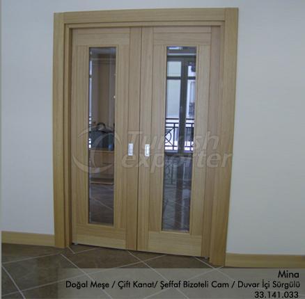 Wooden Door Mina Glazed