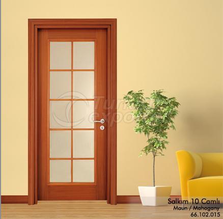 Wooden Door Salkım 10-Glass