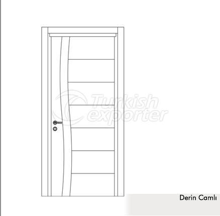 Wooden Door Derin Glazed
