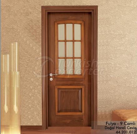 Wooden Door Fulya 9-Glass