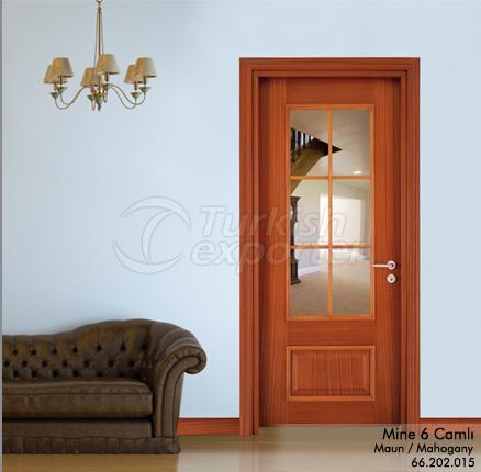 Wooden Door Mine 6-Glass