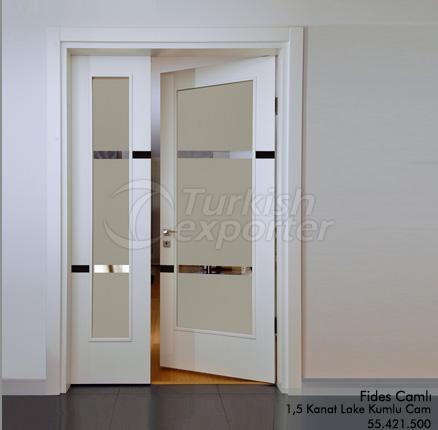 Wooden Door Fides Glassed