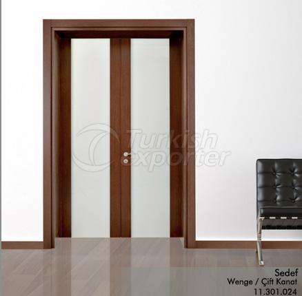 Wooden Door Sedef Glazed