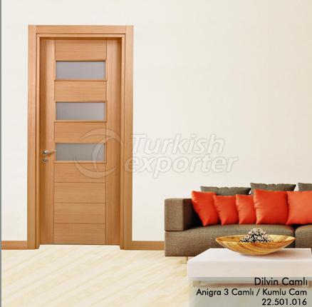 Wooden Door Dilvin Glazed