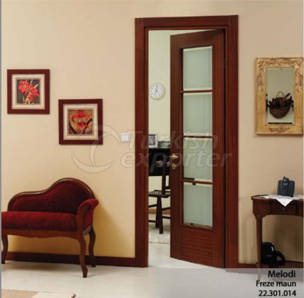 Wooden Door Melodi Glazed