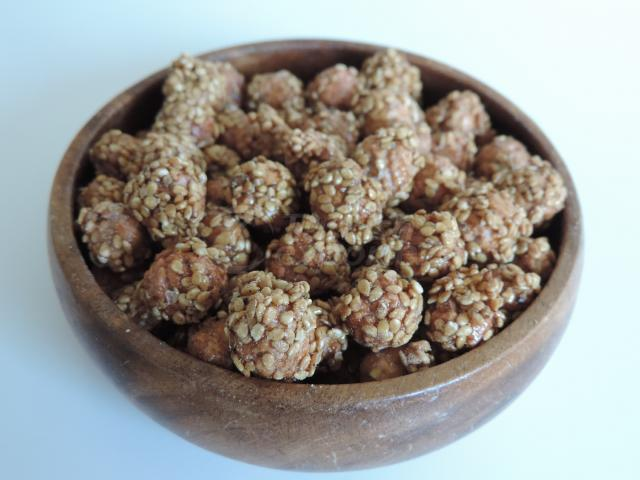 Honey and Sesame Coated Chickpeas