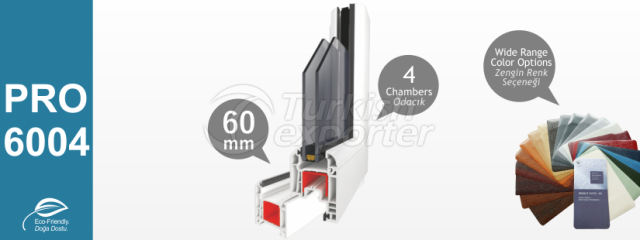 PRO6004 Series PVC Profiles