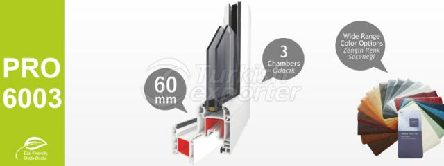 PRO6003 Series PVC Profiles