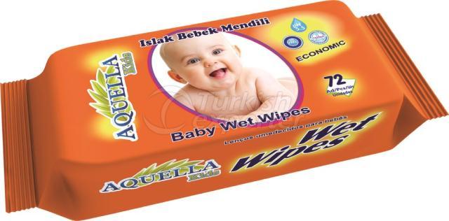 Baby Wet Wipes Aquella