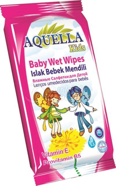 Baby Wet Wipes Aquella Kids