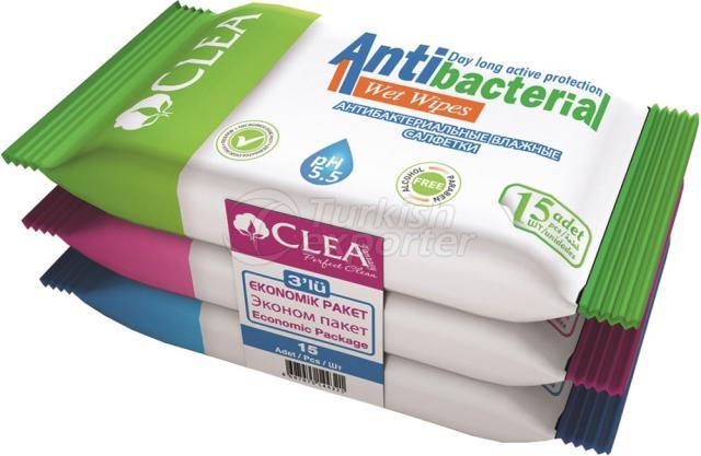 Antibacterial Wet Wipe Clea