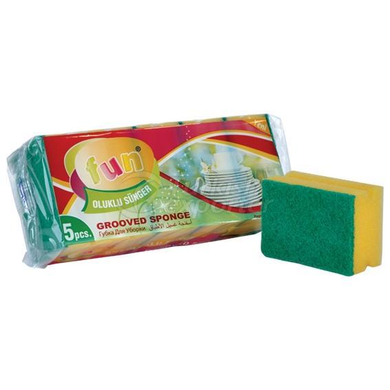 Fun Grooved Sponge 5