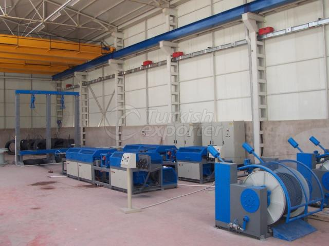 Wire Drawing Rubbing Press Roller Winding Machine