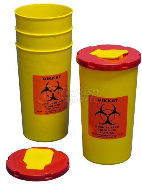 0.7 lt Biohazard Waste Container