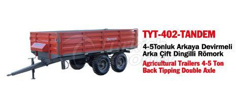 TYT-402 Trailer Back Tipping Double Axle