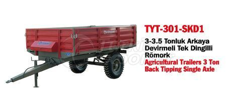 TYT-301 Trailer Back Tipping Single Axle