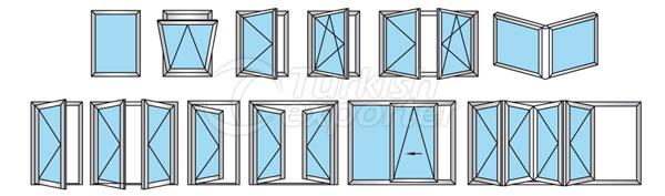 60T Aluminum Doors Windows