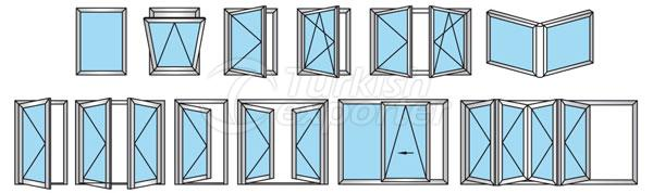 54T Aluminum Doors Windows
