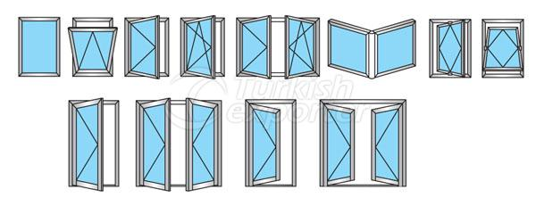 59T Aluminum Doors Windows