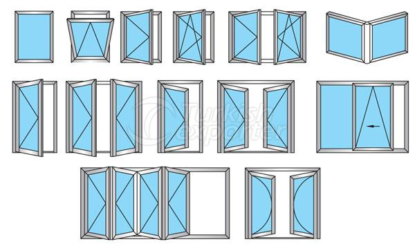 47C Aluminum Doors Windows