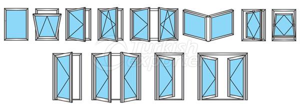 65T Aluminum Doors Windows