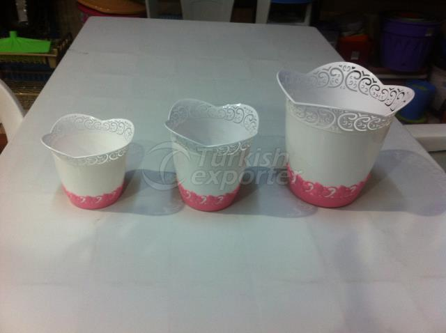 Flower vase set 3 pieces