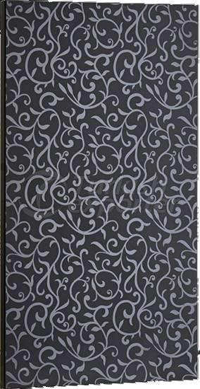 Bright PVC Cupboard Door Black Flower