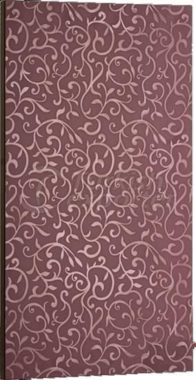 Bright PVC Cupboard Door Dark Violet Flower