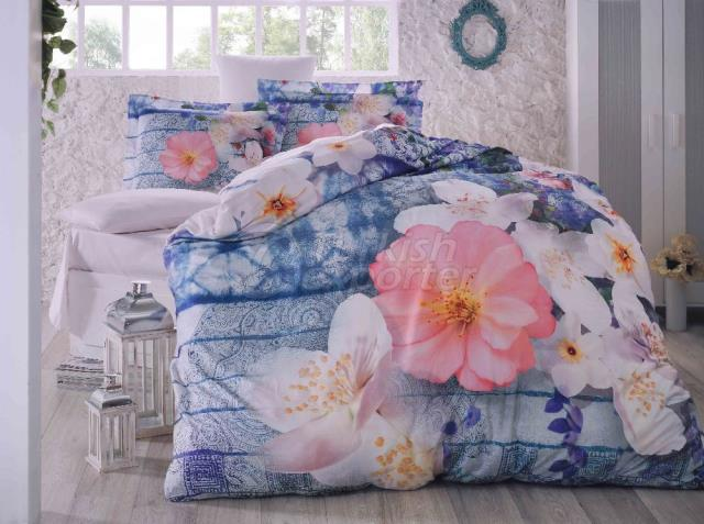 Blue Spring 3D Cotton Sateen Double