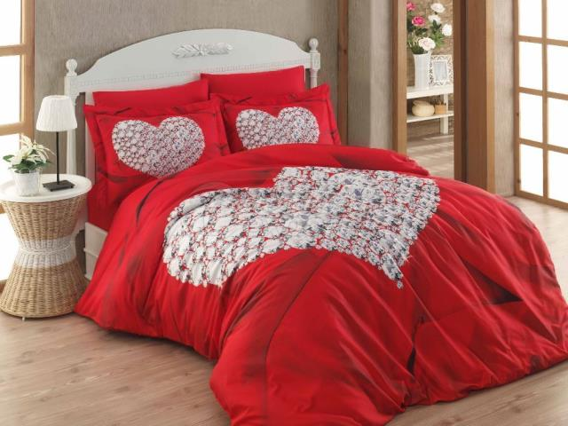 Two Heart 3D Sateen Double