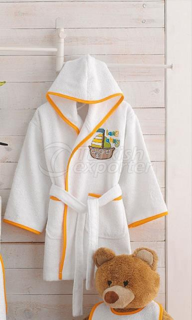 Pirates Bamboo Kids Bathrobe